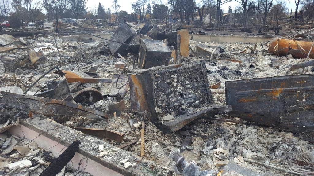 What was left of my home after the Tubbs fire. Image taken October 20, 2017, the first day residents had access to their property.